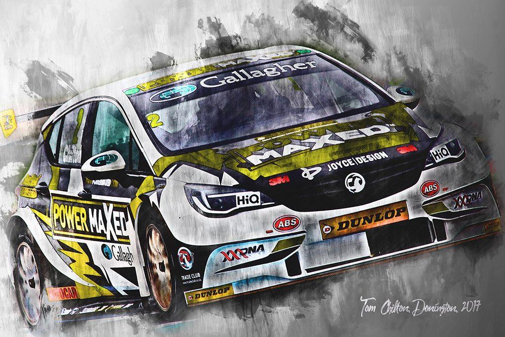 Tom Chilton - Motorsport Art - British Touring Car Championship - Wall Art Canvas