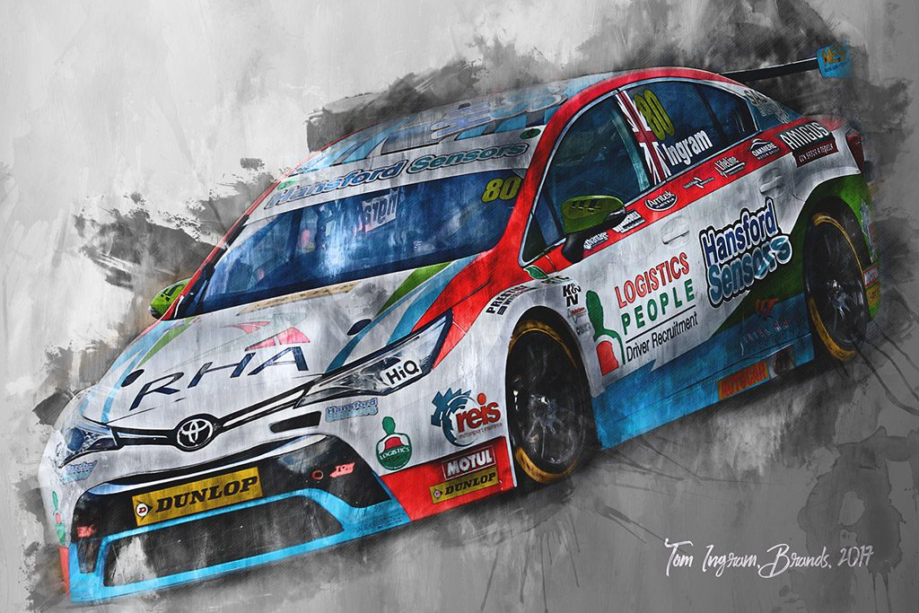 Tom Ingram - Motorsport Art - British Touring Car Championship - Wall Art Canvas