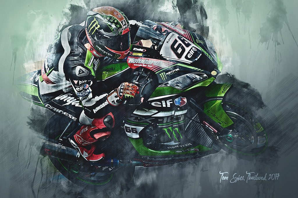 Tom Sykes - World Superbikes - Wall Art Canvas Print