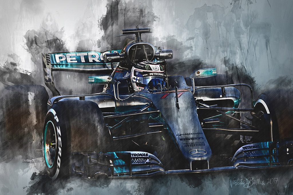 Valtteri Bottas - Formula 1 - Wall Art Canvas