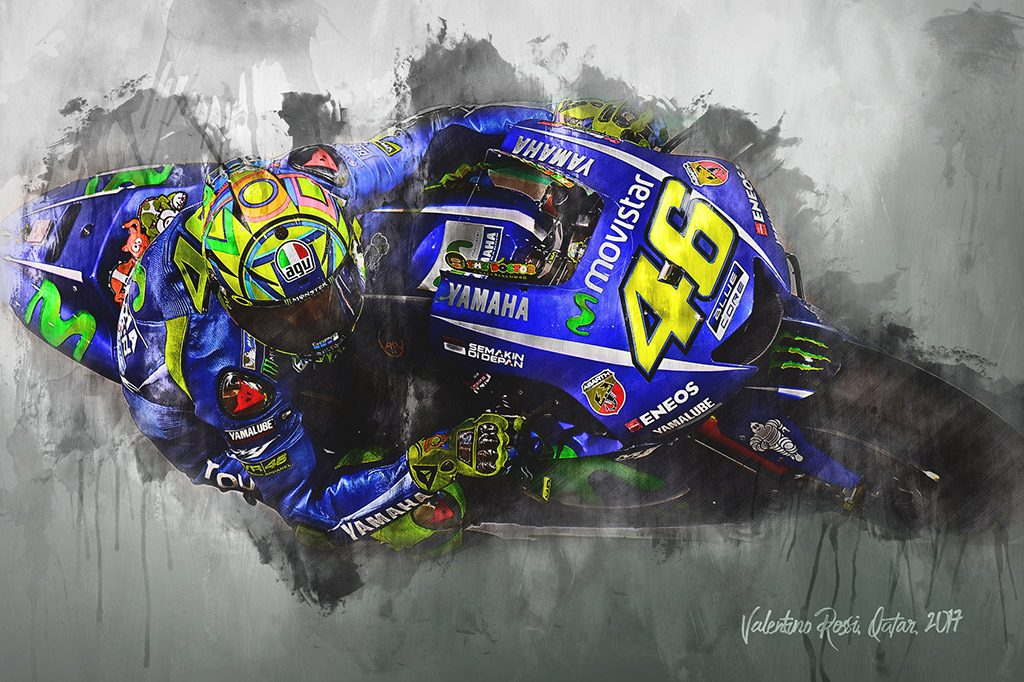 Valentino Rossi - Moto GP - Wall Art Canvas