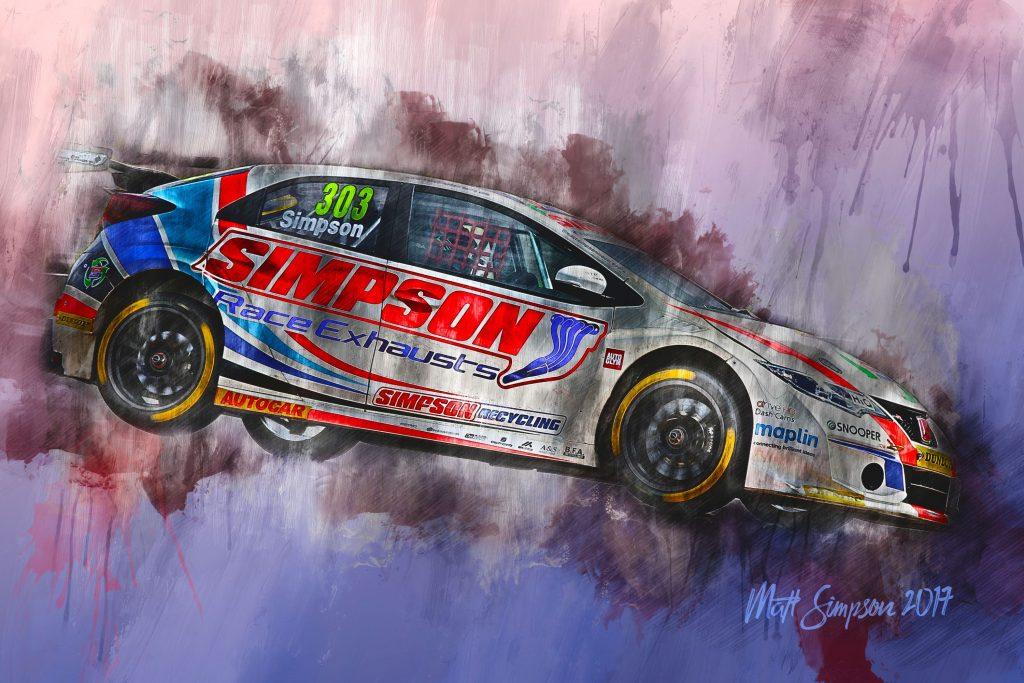 Matt Simpson Motorsport Art Canvas - Motorsport Art Ltd