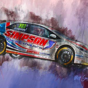 Matt Simpson 001 | Motorsport Art Canvas | BTCC