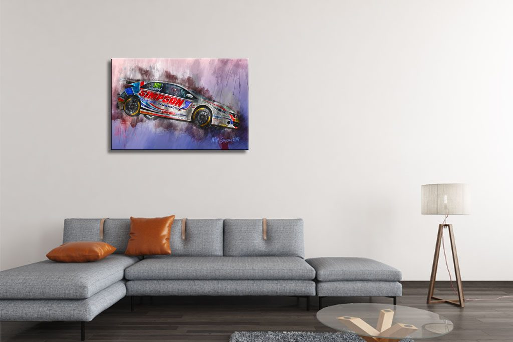 Matt Simpson Motorsport Art Canvas Print - Motorsport Art Ltd