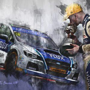 BTCC Champion 2017 – Ashley Sutton – Motorsport Art Canvas