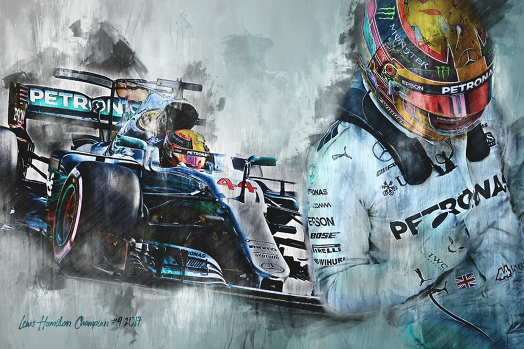 F1 Champion 2017 - Lewis Hamilton - Motorsport Art