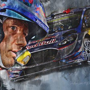 WRC Champion 2017 – Seb Ogier – Motorsport Art Canvas