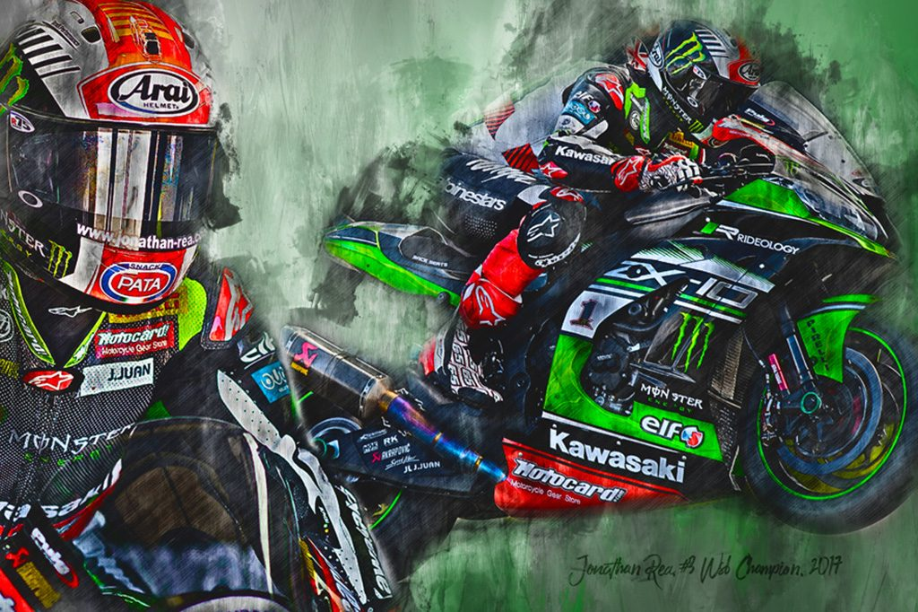 WSB Champion 2017 - Johnny Rea - Motorsport Art Canvas
