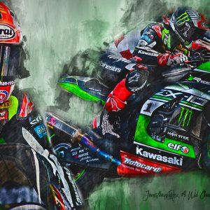 WSB Champion 2017 – Johnny Rea – Motorsport Art Canvas