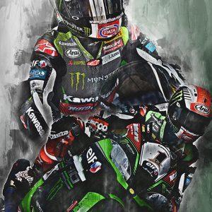 WSB Champion 2017 – Johnny Rea – 002 – Motorsport Art Canvas