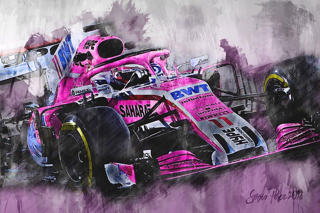 Sergio Perez Canvas Art Print Formu