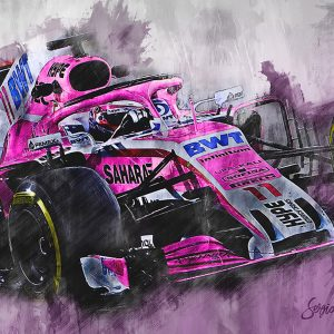 Sergio Perez Canvas Wall Art | F1 2018 | 001