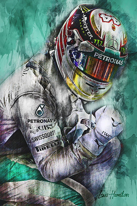 Lewis Hamilton Canvas Art Print Formula 1 2018 003