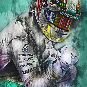Lewis Hamilton Canvas Wall Art | F1 2018 | 003