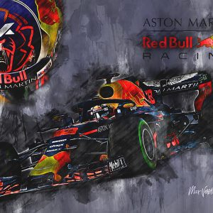 Max Verstappen Canvas Wall Art | F1 2018 | 001