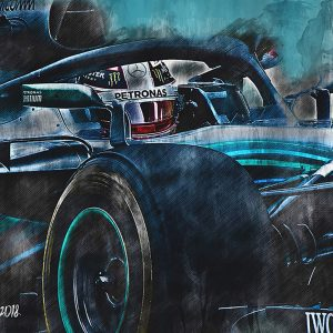 Lewis Hamilton Canvas Wall Art | F1 2018 | 001