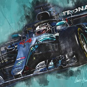 Lewis Hamilton Canvas Wall Art | F1 2018 | 002