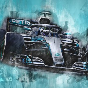 Valtteri Bottas Canvas Wall Art | F1 2018 | 001