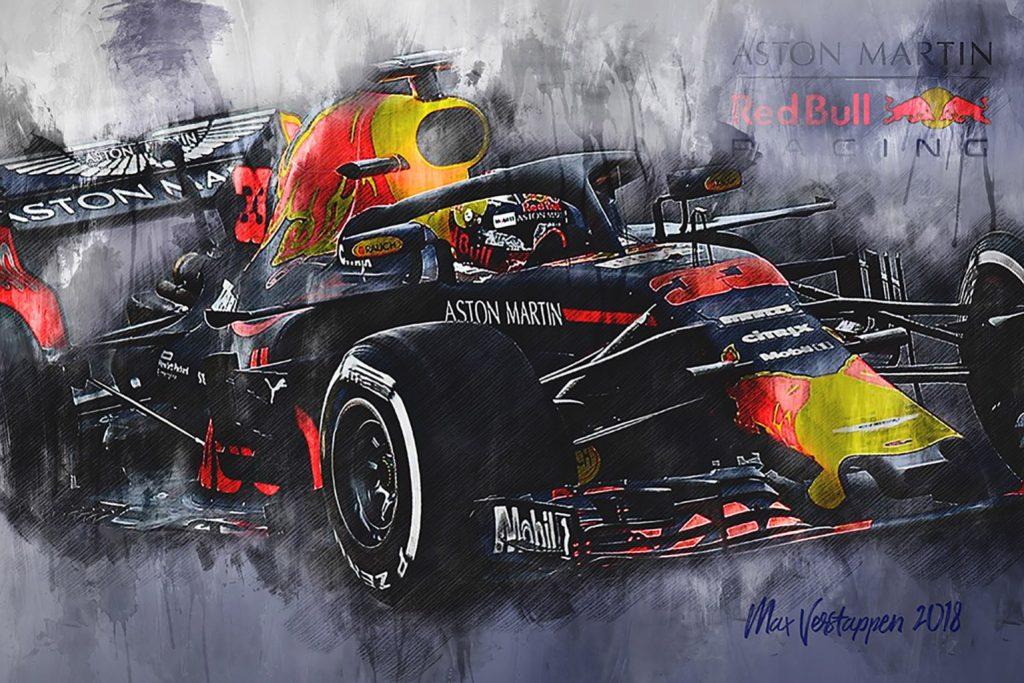 Max Verstappen Canvas Art Print Formula 1 2018 002