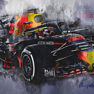 Max Verstappen Canvas Wall Art | F1 2018 | 002