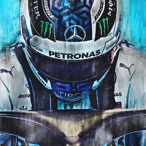 Valtteri Bottas Canvas Wall Art | F1 2018 | 002