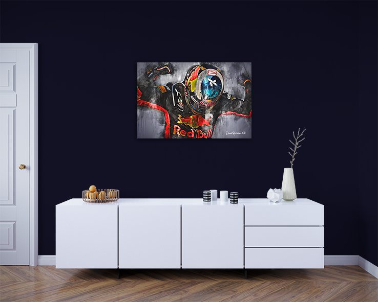 Daniel Ricciardo Team Red Bull Canvas Art 2018