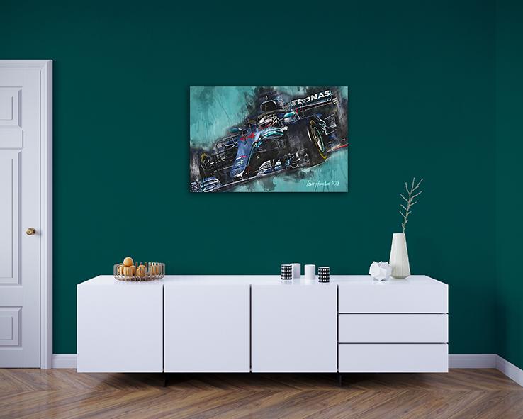 Lewis Hamilton Canvas Art Print Formula 1 2018 002