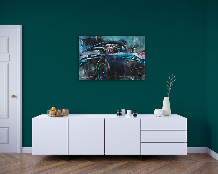 Lewis Hamilton Canvas Art Formula 1 2018