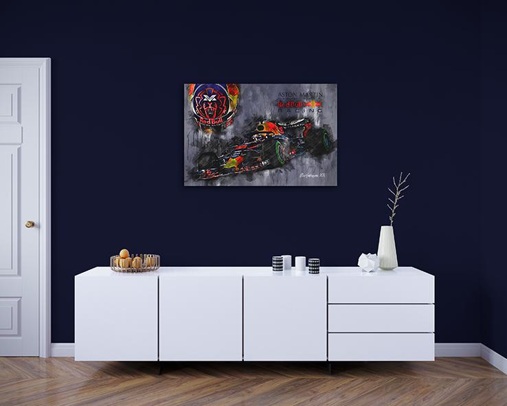 Max Verstappen Canvas Art Print 2018