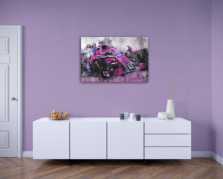 Sergio Perez Canvas Art Print Formula 1 2018