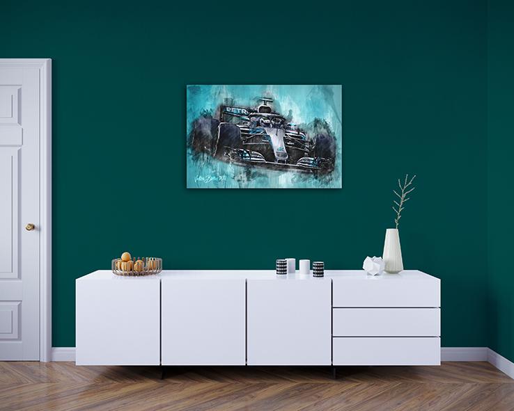 Valterri Bottas Canvas Art Print Formula 1 2018